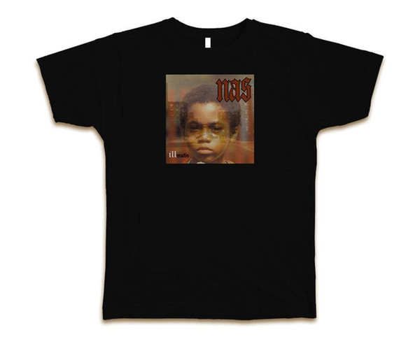 Camiseta de moda para hombre Nas Illmatic personalizada S-3XL New-Black