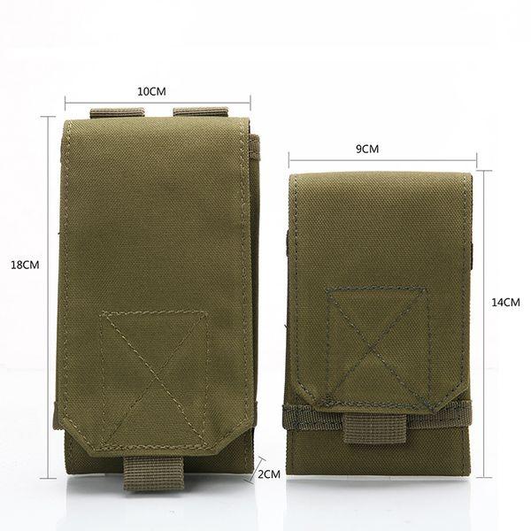 Neue 2018 Outdoor Taktische Handytasche MOLLE Armee Camo Camouflage Bag Haken Schleife Gürteltasche 1000D Nylon Mobile Paket # 28626