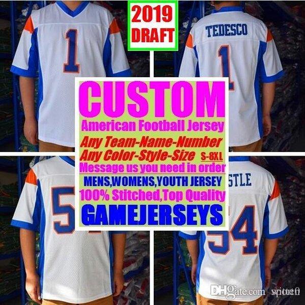 All Stitched Custom американский футбол трикотажные изделия Аризона Атланта колледж подлинные дешевые бейсбол баскетбол хоккей джерси 4xl 5xl 7xl размер