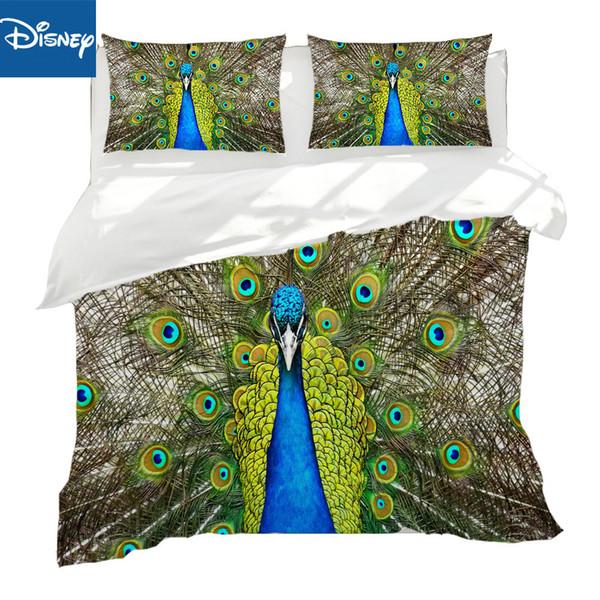 Peacock set biancheria da letto queen size biancheria da letto 3D stampa reattiva copriletto kid tessili per la casa fresco arredamento camera da letto verde adulto hotsale