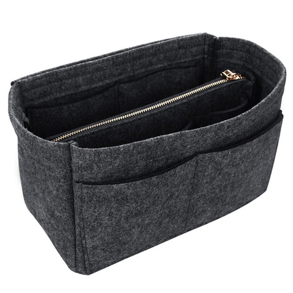 Make Up Organizer Felt Insert Bag for Handbag Travel Inner Purse Portable Cosmetic Bag Organizer Suitable for Handbags