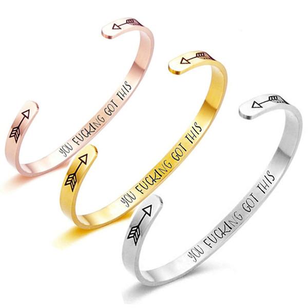 Delicate Arrow Open Bangles Rose Gold Silver for Women Cuff Wristband Bracelets Charms Bangles pulseira feminina