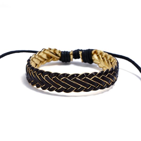 Korean Version of The New Fashion Leather Bracelet Simple Hundred Exclusive Handmade Knitted Bracelet Creative Design Cute Bracelet