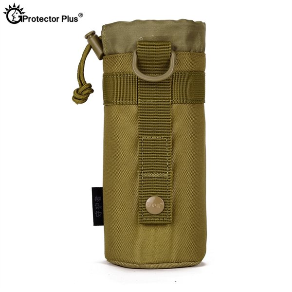 PROTECTOR PLUS Tactical Molle Accessories Kettle Pouch Water Bottle Outdoor Camping Travel Hunting Durable Drawstring Water bag #589557