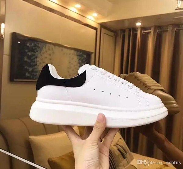 Yeni Erkek Bayan Chaussures Ayakkabı Güzel Platformu Rahat Sneakers Lüks Tasarımcılar Ayakkabı Deri Katı Renkler Elbise Ayakkabı 36-45