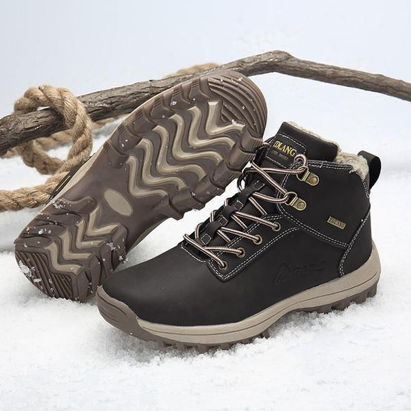 Mens Martins Boots Botines de cuero de gamuza Estilos musculares Tacones bajos Tobillo zapatos para caminatas Cálido Invierno Snow Boots WorkSafet al aire libre 39-48