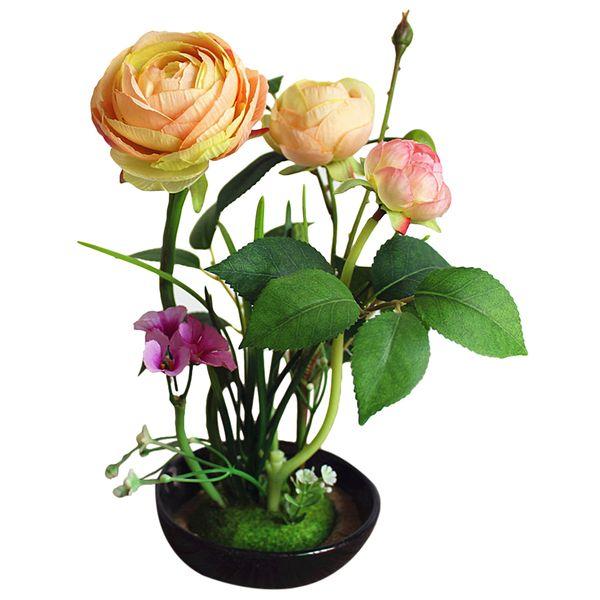 Lifelike Artificial Potted Flower Decorative Elegant Rose Fake Flower Home Decor Living Room Bedroom Decoration Supplies  sc 1 st  DHgate.com & 2019 Lifelike Artificial Potted Flower Decorative Elegant Rose Fake ...