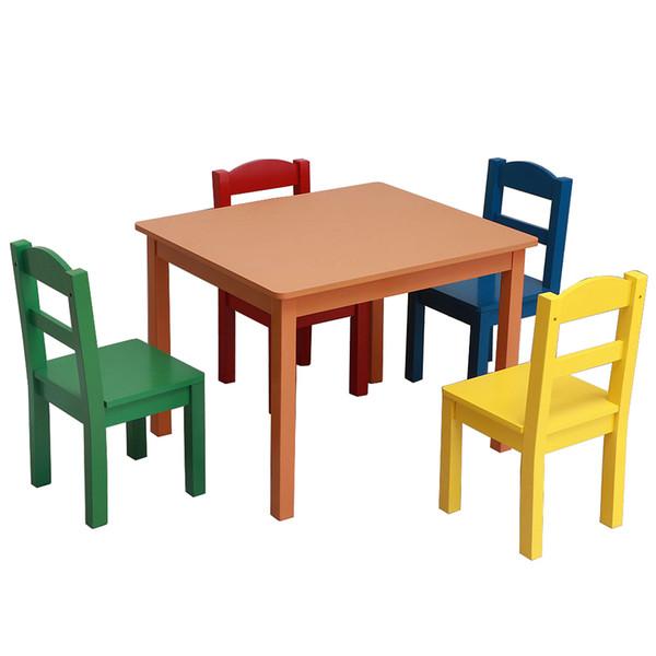 Table De 4 Comprenant Et Chaises Bois 5 Une D'activitésTable Tout Et EnfantsEnsemble Chaises Table 4 De Pour Pièces Ensemble Petit Pour Acheter En YW2IbeHED9