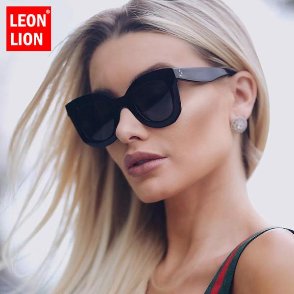 LeonLion 2019 Leopard Cat Eye Sunglasses Women Designer Luxury Man/Women Sun Glasses Classic Vintage UV400 Outdoor Eyewear