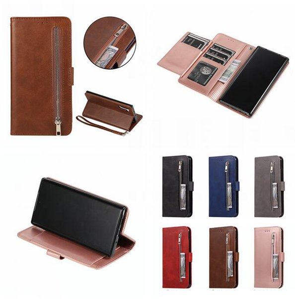 Multifunción cremallera Cartera de cuero del caso para Samsung Galaxy A20E núcleo A2 M20 M30 A10 A40 A70 A50 A20 tirón de la correa de soporte de la piel cubierta de Tarjetas