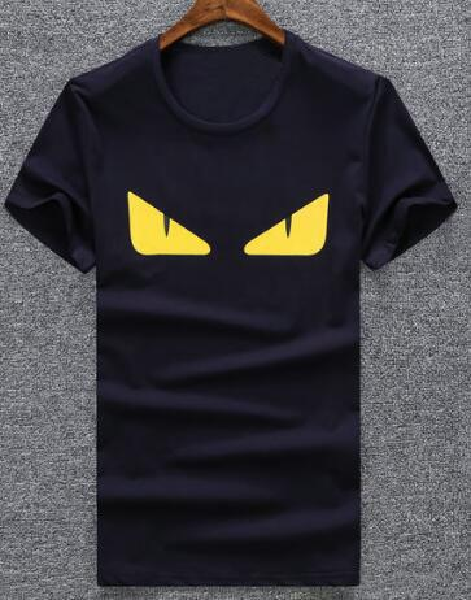 Fabrik Frühling Mann T-Shirt Kurzarm Baumwolle Tees Angry Eye Sport T Shirts Größe M-XXL Schwarz Weiß Marineblau