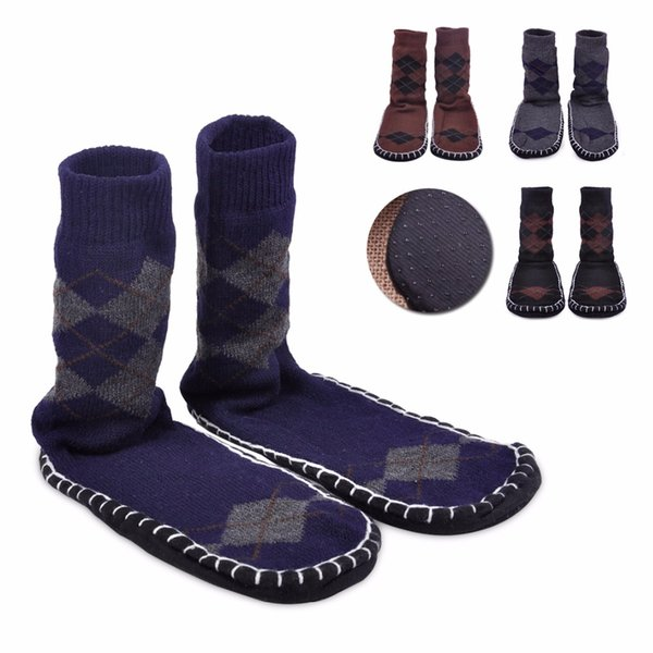 socks ciciTree Non Slip Floor Slipper Socks Long winter thickening slip-resistant adult floor sock Men at home indoor shoes sock