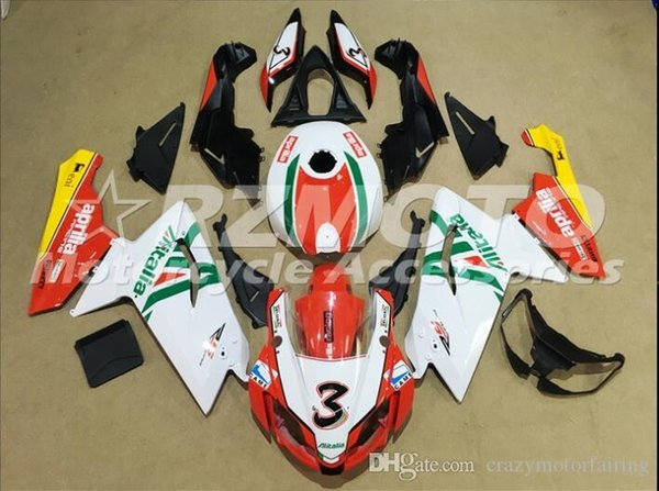 Injection mold Fairing KIT for Aprilia RS4 125 06 07 08 09 10 11 RS4 RSV 125 2006 2009 2011 White Red ABS Fairings set+3gifts APP8