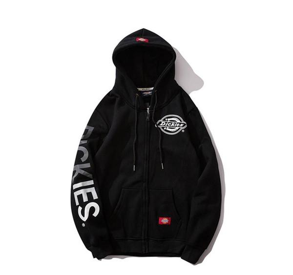 19ss Dickies progettista degli uomini hoodie cerniera maglione Dix autunno gli uomini e le donne inverno Dk peluche tendenza ispessimento top coat brand di lusso pullover