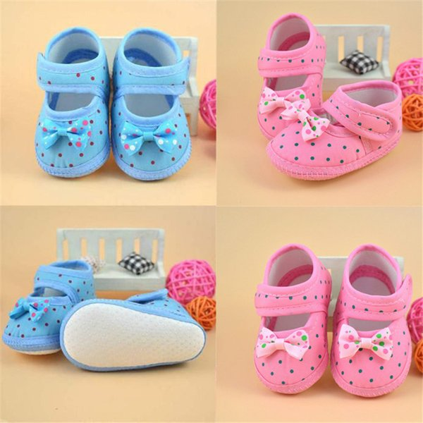 Fashion Baby Girl First Walker Kids Bowknot Boots Soft Crib Shoes NDA84L16