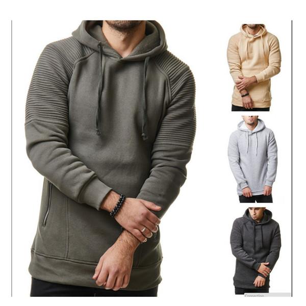 Hoodies Men 2019 Brand Male Long Sleeve Stripe Colored With Hood Sweatshirt Men's Hoodie Tracksuit Sweat Coat Casual Sportswear