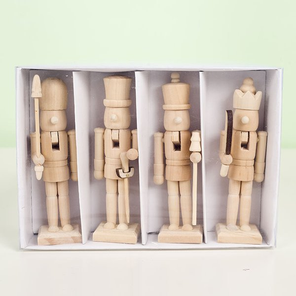 12cm Nutcracker Puppet Soldier Shaped Classic Hand Painting Dolls Home Office Mall Window Diy Decor For Kids Christmas Gifts