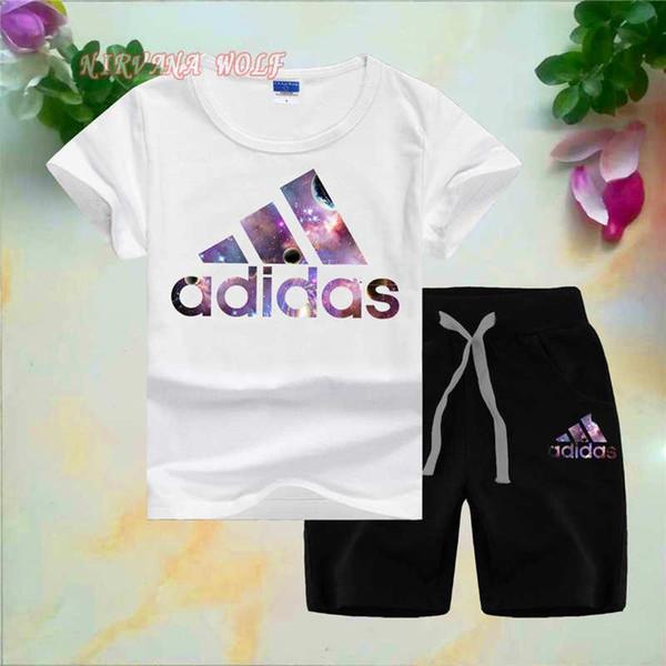 ADLDAS Little Kids Sets 1-7T Детская футболка с круглым вырезом с короткими штанами 2 шт. / Комп