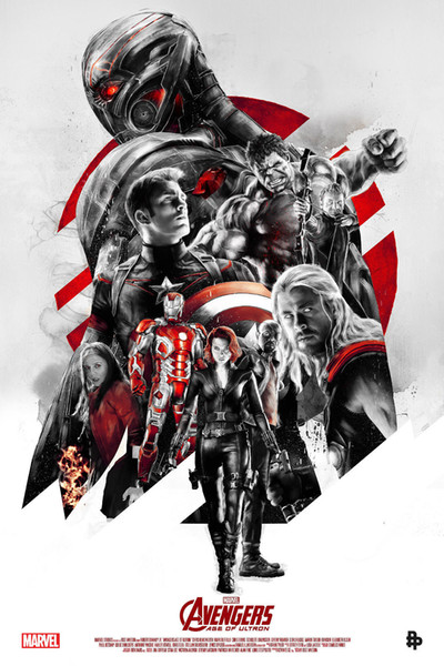 Marvel 2015 The Avengers Age of Ultron Wall Classic Movie Decor Art Silk Print Poster 24x36inch 24x43inch