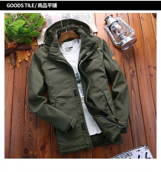 Novo inverno dos homens e sportswear das mulheres de alta qualidade à prova d 'água tecido dos homens jaqueta de esportes moda zipper hoodie plus