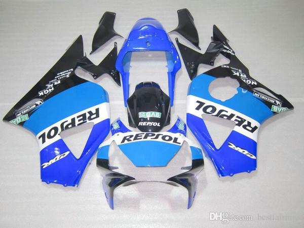 Brandneue Verkleidungen für Honda CBR900RR 2002 2003 CBR954 schwarz weiß blau Verkleidungssatz 02 03 CBR954RR CBR 954RR CX21