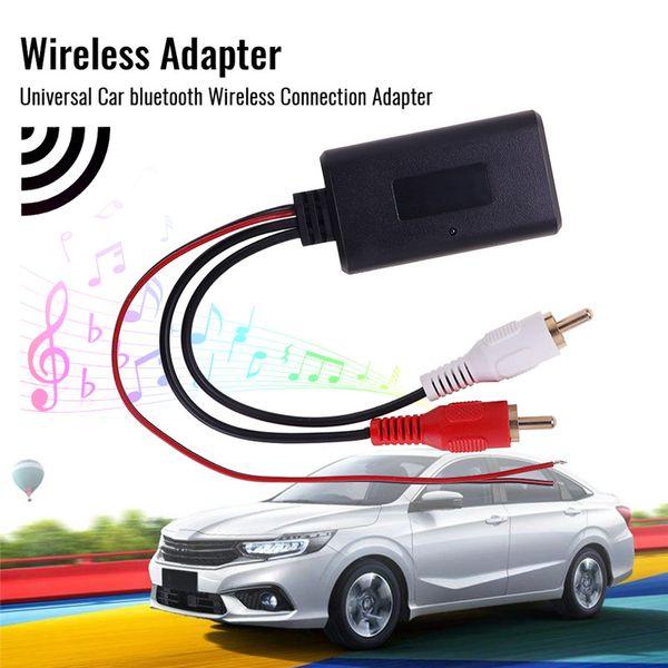 Adaptador de Conexão Universal Car Bluetooth sem fio para Stereo com entrada de 2 RCA AUX IN Música Cabo de áudio sem fio para o caminhão Auto