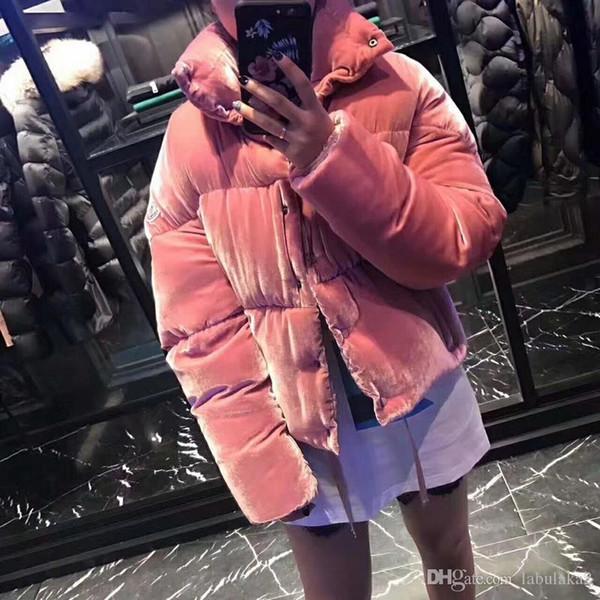 Женщины Зимняя куртка Дамы шелковый бархат пуховик утка вниз Внутри Теплое пальто Femme Long Coat Качество Очень хороший
