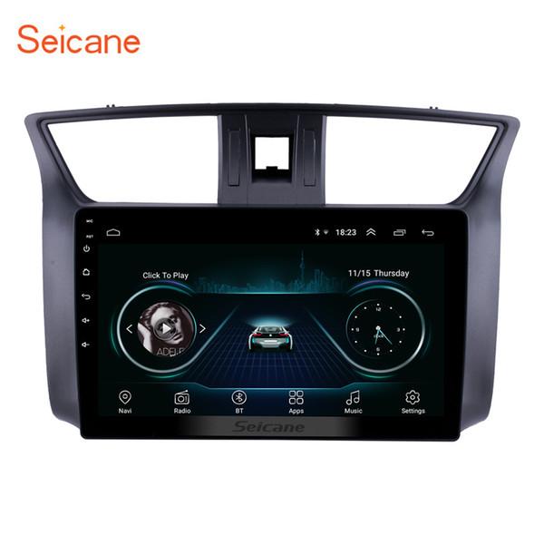 Touchscreen HD di vendita caldo 10.1 pollici Navigazione GPS stereo per auto Android 8.1 per Nissan Sylphy 2012-2016 con supporto Bluetooth USB TPMS OBD2