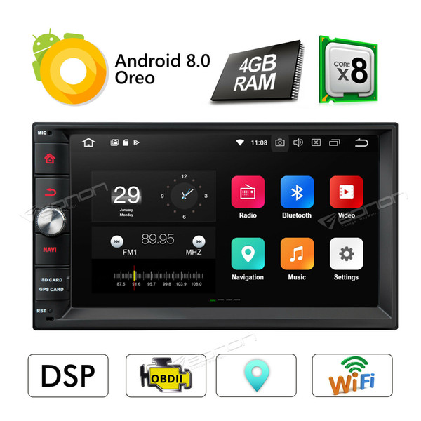 """Android 8.0 8Core 7"""" Double 2Din Car Radio Stereo GPS Navi Sat DAB+ Built in DSP"""