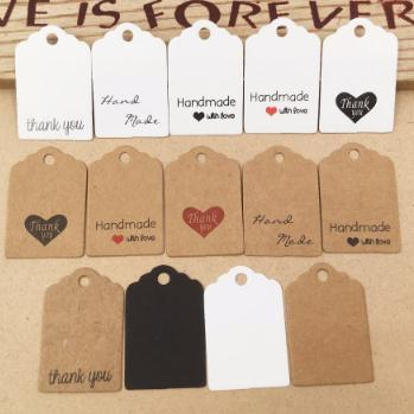 DIY Kraft Paper Tags Gift Wrap Label Blank Price Tag Kraft Gift Hang Tag Wedding Party Supplies 3x2cm 1000pcs