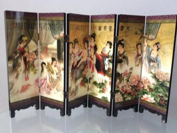 madeira dobrável byobu tela belezas nuas imagem erótica chinês antigo