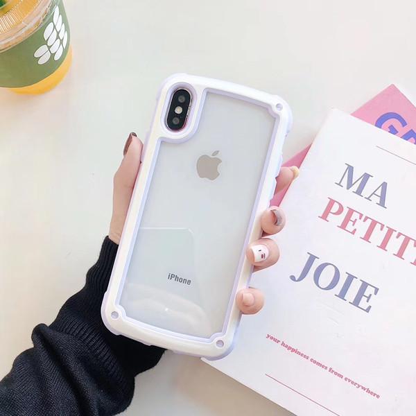 caso semplice colore della caramella coreano per coperture del telefono mobile di TPU iPhoneXs creativo + pc acrilico coperchio di protezione di Apple