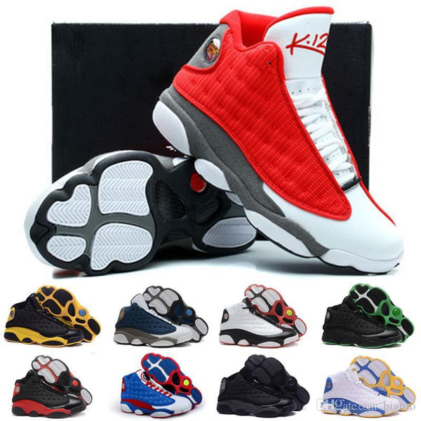 wholesale new 13 xiii new model 3m rocket men basketball sneakers trainers shoes us 8-13, White;red