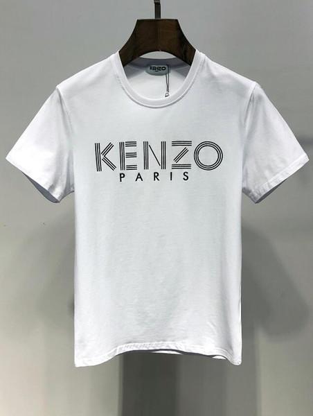 2019 Mais Novo Moda Algodão Marca LOGOTIPO de Impressão T shirt da forma Roupas de Homens mulheres T Shirt de Manga Curta de Alta Qualidade T-Shirt Dos Homens
