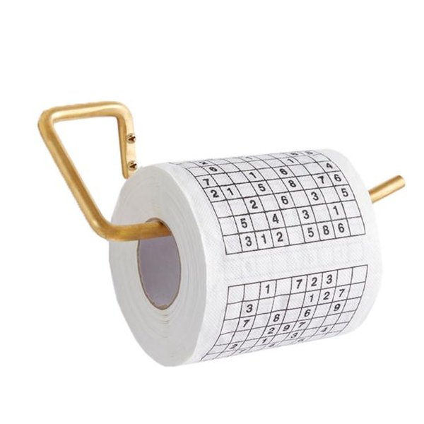 Promotion Sudoku Toilet Paper Roll Funny Game Kill Time Novelty Gift Free Shipping wang