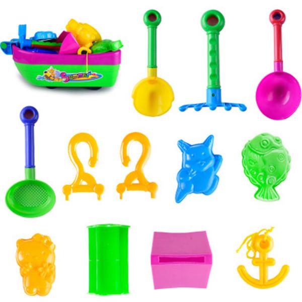 Sand Boat Toys Baby Kids Juego de juguetes para la playa de arena 13 piezas Jugando con arena Sandbox Sandbox Sandbox Summer Sand Water Toys.