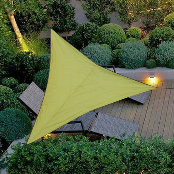 New Triangle Sun Shelter Sunshade Protection Outdoor Travel Awning Camping Picnic Tent Canopy Garden Patio Pool Shade