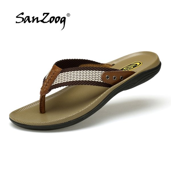 release date pretty cheap speical offer 2019 High Quality Handmade Men Slippers Genuine Leather Mens Flip Flops  Summer Leather Slides Men Comfortable Chancletas Hombre #116124 Shoes For  Sale ...