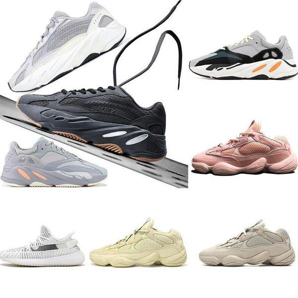 2019 Runner 500 Kanye West Kutusu Yok 2019 Tasarımcı Erkekler Ayakkabı Süper Ay Sarı Allık çöl faresi 500 Sport Sneakers Ayakkabı Koşu