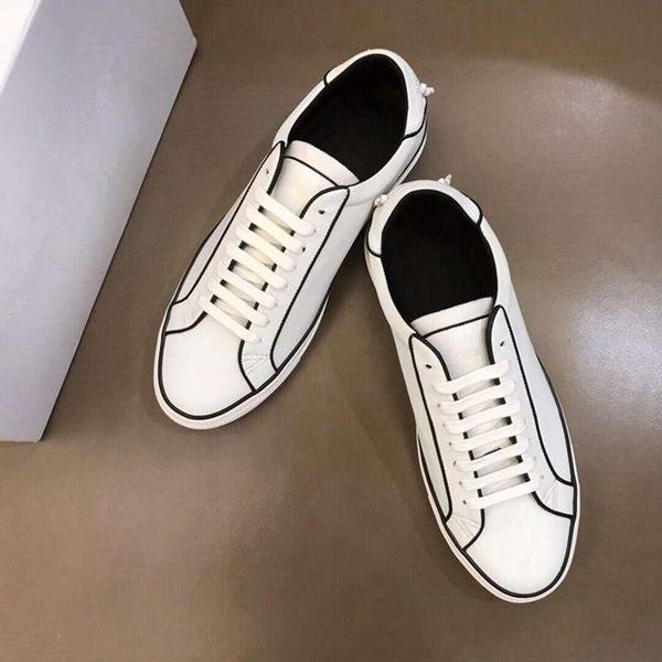 sapatos baixos-top casuais, sapatos masculinos de couro, pequenos sapatos brancos clássicos de europeus e americanos estilo, tamanho 38-44
