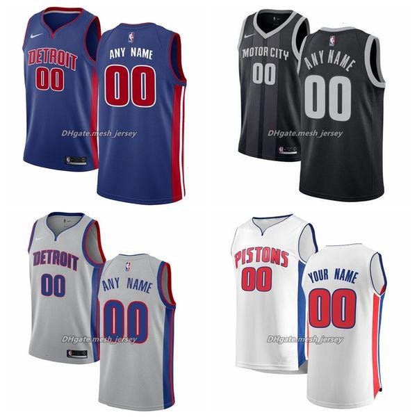 31 Custom DetroitPistons Men Women Kid Name Number Jersey 00 Anthony 23 Griffin 4 Dumars 33 Hillnba Basketball Jerseys Gray Black