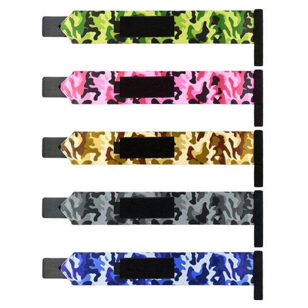 1 Pair Camouflage Bandage Strap Weightlifting Wrist Protective Strap Training Fitness Sports Wristbands Support #484105
