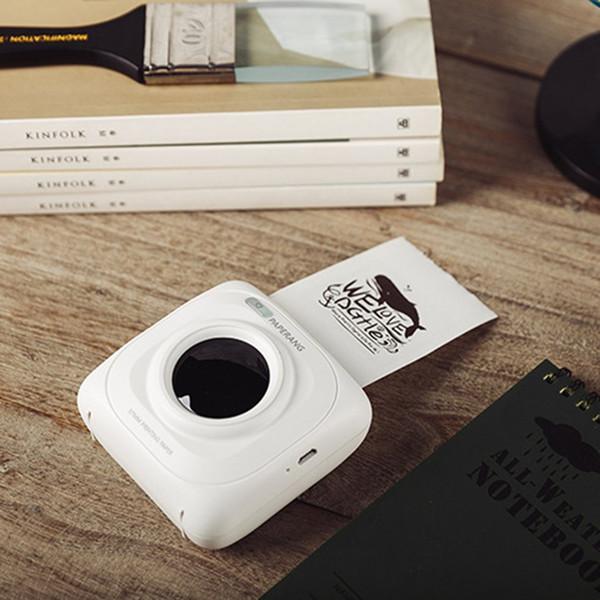 Paperang P1 Tamaño pequeño Inalámbrico Bluetooth 4.0 Teléfono móvil Impresora de fotos instantánea Impresión de imágenes digitales 1000MAH Batería