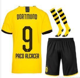 2019 Borussia Dortmund Kids Soccer Jersey 2019 2020 Bvb Maillot De Fooalit Reus Pulisic 2019 20 Dortmund Football Shirts Kids Kit With Socks From Nancy125 17 25 Dhgate Com