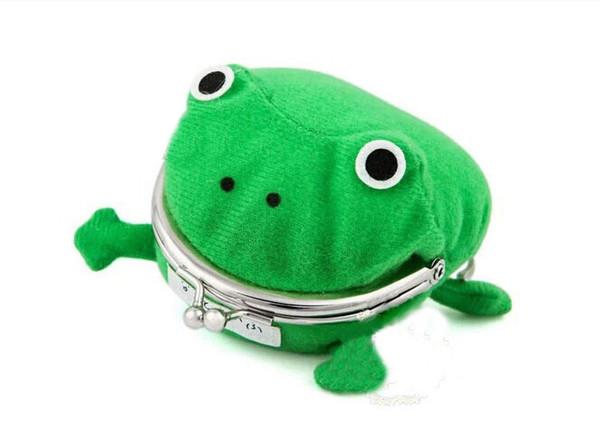 Crianças sapo bolsa dos desenhos animados cosplay sapo coin purse crianças menina criativo carteira de pelúcia personalidade bolsa verde
