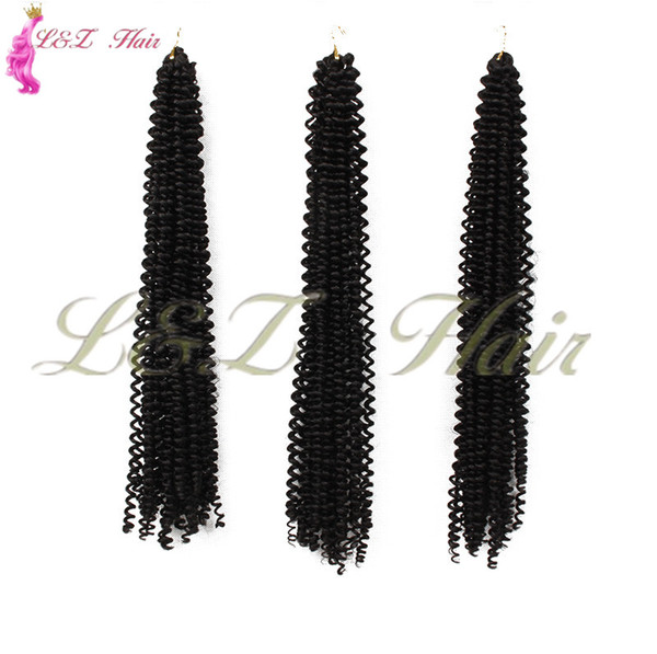 18 inch black/brown freetress box braids crochet braids hair extension Synthetic twist Brown Red Black Golden Colors Freetress Water Wave