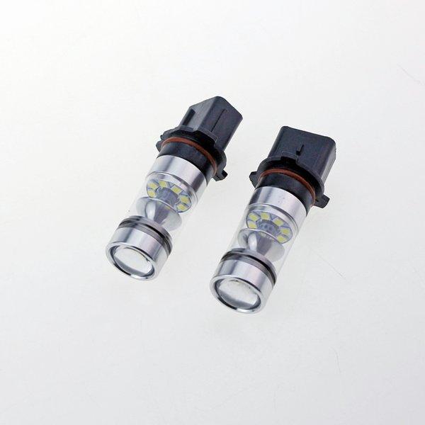 2PCS 100W P13W 3030 Chip 20 SMD 6500k Avec objectif haute puissance LED brouillard Conduite LANP diurne DRL Ampoule 850lm 12V