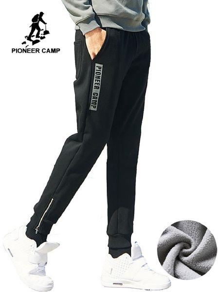 Nouveau Style Hiver Épais Pantalons De Survêtement Hommes Marque-vêtements Lettre Polaire Chaud Pantalon Décontracté Mâle Qualité Coton AWK702323