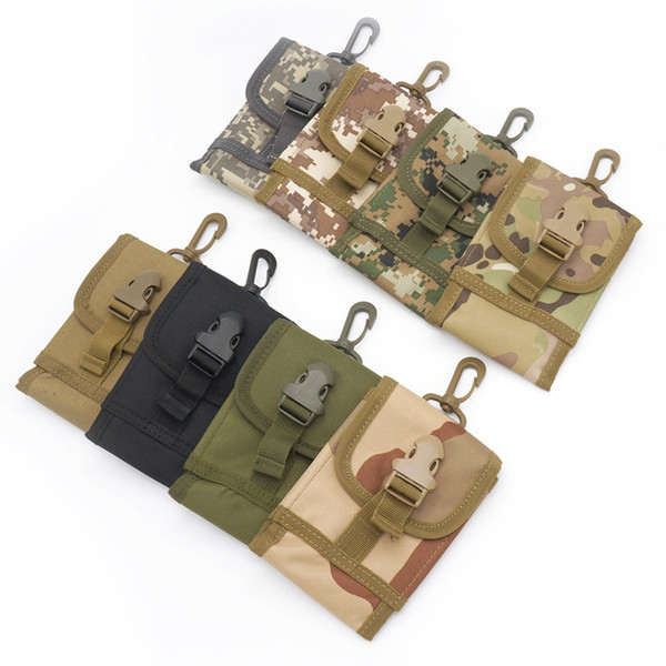 Outdoor Sports Pack Multifunctional Tactical Package Recreational Running Mobile Bag Waterproof Oxford Wristbag coin purse Camouflage riding