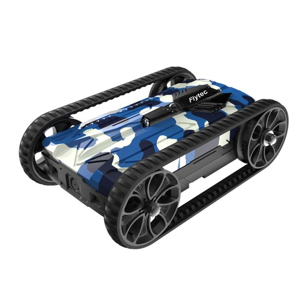 wholesale Wifi FPV Alloy AR Tank Infrared RC Children Toys with LED Light for Multimachine Interactive Battle - Blue White Camoufla